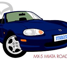 Mazda MX-5 Miata NB dark blue by car2oonz