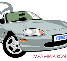 Mazda MX-5 Miata silver by car2oonz