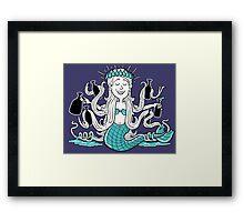 Beer Loving Mermaid Princess Framed Print
