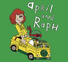 April and Raph by leidemera