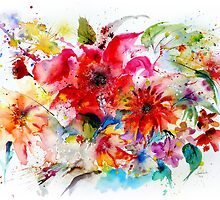 """ Watercolor garden II "" by IsabelSalvador"