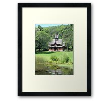 Little Norway Stave Church Framed Print