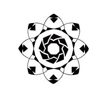 Mandala #217 || Mono by RedBookJournals