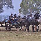 Wagon in the rain by julie anne  grattan