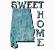 Sweet Home Alabama Typographic Map Art Kids Clothes