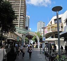 Queen Street Mall, City of Brisbane. Queensland. Aust. by Rita Blom