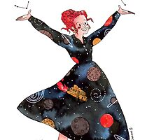 Miss Frizzle loves science by Roxanne B.