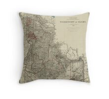 Map of Idaho 1888 Throw Pillow