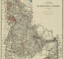 Map of Idaho 1888 by AndrewFare
