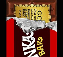 willy wonka chocolate bar cover for imagination by joelz7