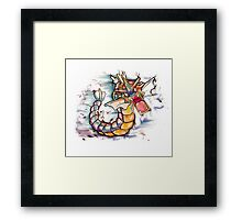 Epic Gyarados Tshirts + More Framed Print