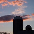Sunset On The Farm by James Brotherton