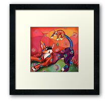 The Chase, by Alma Lee Framed Print