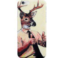 Deer Man, Thumbs Up iPhone Case/Skin