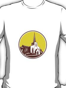 Trinity Parish Episcopal Church Woodcut Retro T-Shirt