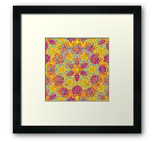 Psychedelic jungle kaleidoscope ornament 16 Framed Print