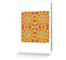 Psychedelic jungle kaleidoscope ornament 17 Greeting Card