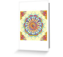 Psychedelic jungle kaleidoscope ornament 19 Greeting Card