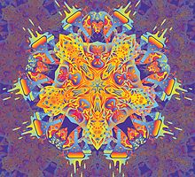Psychedelic jungle kaleidoscope ornament 21 by Andrei Verner