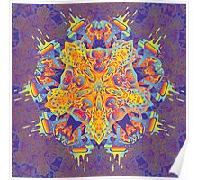 Psychedelic jungle kaleidoscope ornament 21 Poster