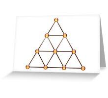 Tetraktys, The Unit Of Four - Pythagorean Symbol  Greeting Card