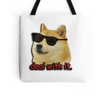 Doge deal with it dog meme Tote Bag