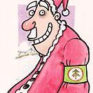 Father Christmas beard trim card by dotmund
