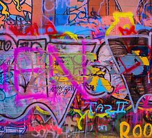 A colourful wall. by Dave Hare