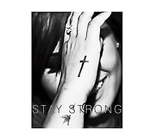 Demi Lovato Stay Strong Halftone Photographic Print