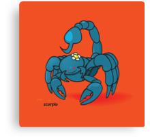 funny zodiac/scorpio Canvas Print