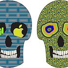 4 Crazy Sugar Skull in Various Styles by ibadishi