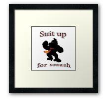 Suit up Smash Framed Print