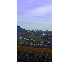 Peaceful countryside scenery   landscape photography Photographic Print