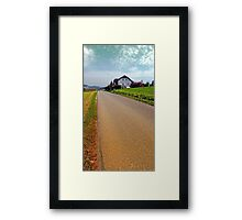 Country road into vibrant scenery | landscape photography Framed Print