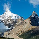 Mount Athabasca and Hilda Peak  by Jim Stiles