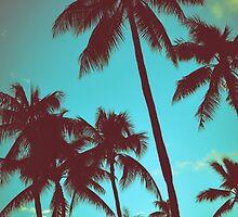 Vintage Tropical Palms by mrdoomits