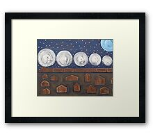 THE NIGHT TRAIN Framed Print