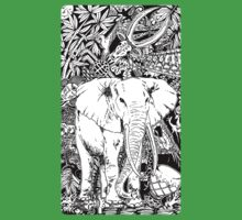 White Elephant Indian Ink Tribal Art Kids Clothes