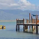 Jetty with Boat by Richard Murias