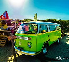 the volkwagen van  by akimpressions