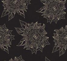 Black flowers by IraMukti