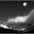 Moonrise Over Franconia Notch by Wayne King