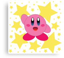 Kirby in the stars Canvas Print