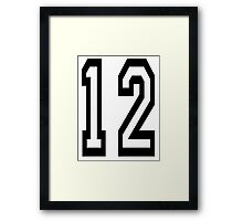 TEAM SPORTS, NUMBER 12, TWELVE, TWELFTH, Competition Framed Print