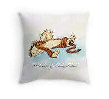 Calvin and Hobbes Resting Throw Pillow