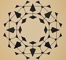 Mandala #220 || Tan by RedBookJournals