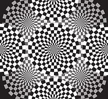Black and white geometrical background by IraMukti