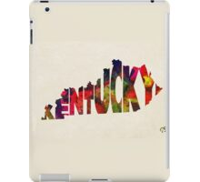 Kentucky Typographic Watercolor Map iPad Case/Skin