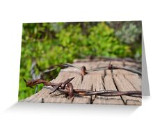 Barbed Forest Greeting Card