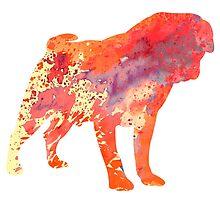 Pug 7 by Watercolorsart